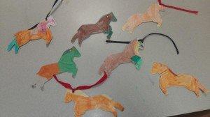 la course des poneys